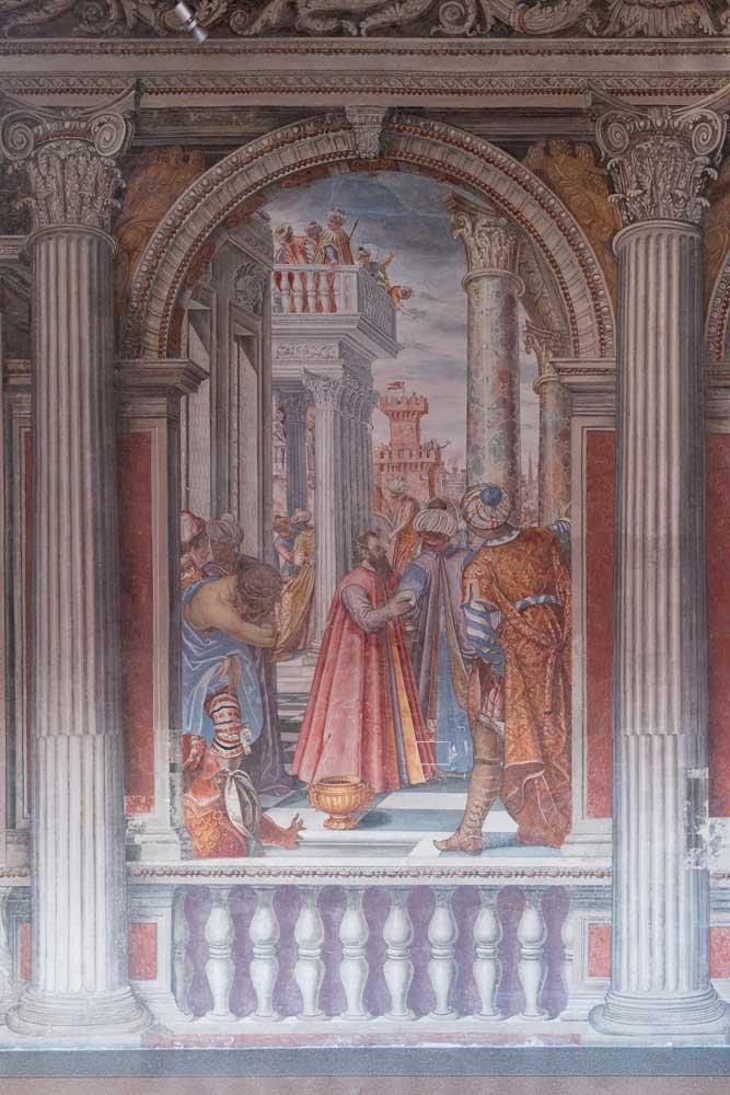 Sacile Palazzo Ragazzoni - SALONE DEGLI IMPERATORI dettaglio 4