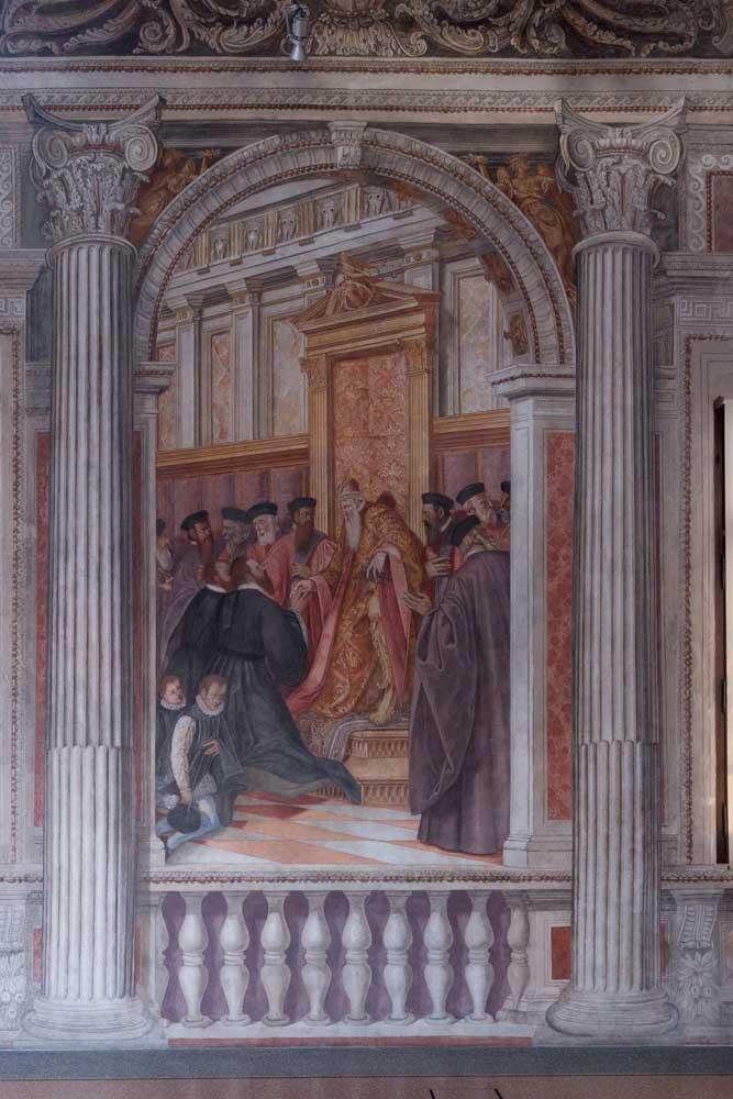 Sacile Palazzo Ragazzoni - SALONE DEGLI IMPERATORI dettaglio 5
