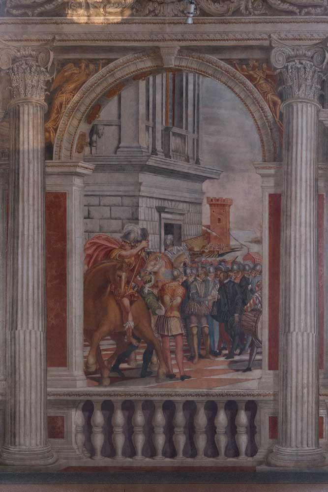 Sacile Palazzo Ragazzoni - SALONE DEGLI IMPERATORI dettaglio 2