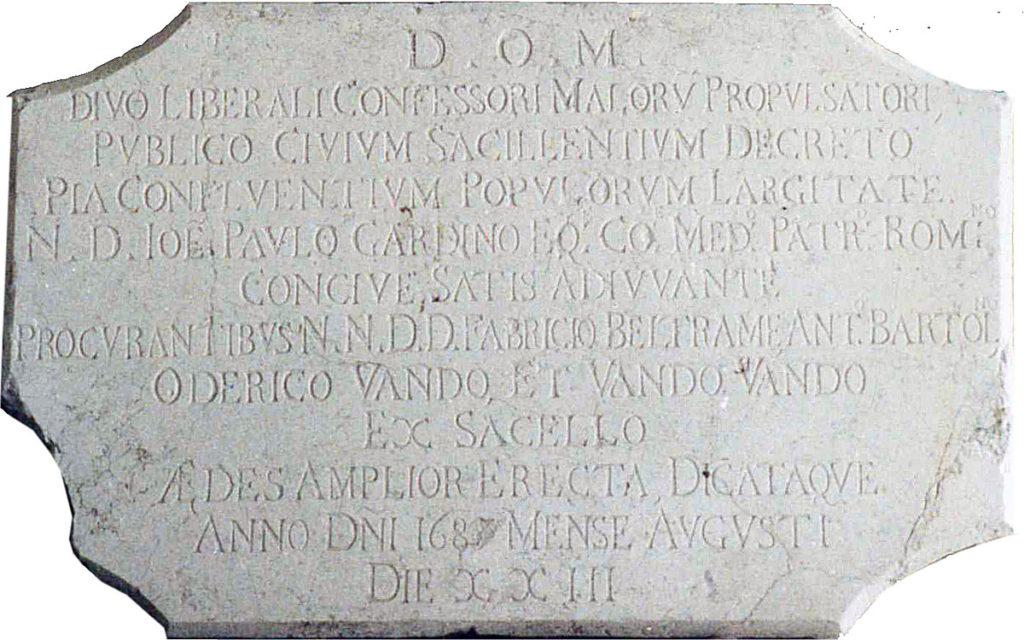 Churches in Sacile: San Liberal Church - stone