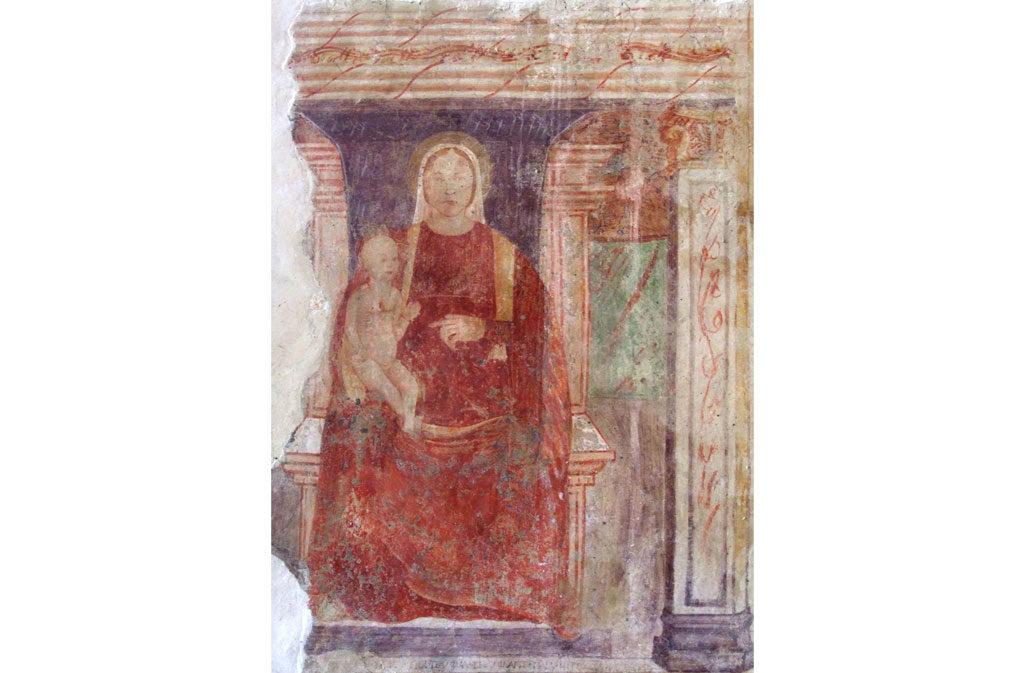 Churches in Sacile: Church of Fossabiuba - fresco 2