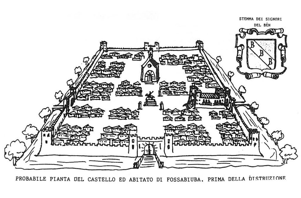 Chiese a Sacile: Chiesetta di Fossabiuba - disegno della pianta