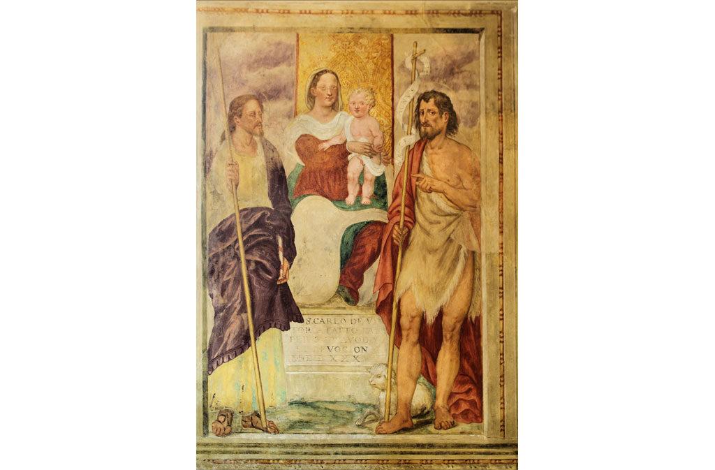 Chiese a Sacile: Chiesetta San Battista - affresco 2