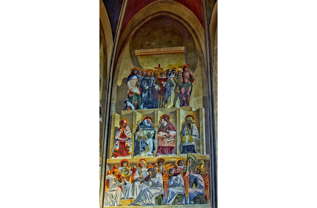 Chiese a Sacile: Duomo San Nicolò - abside Casarini - affresco