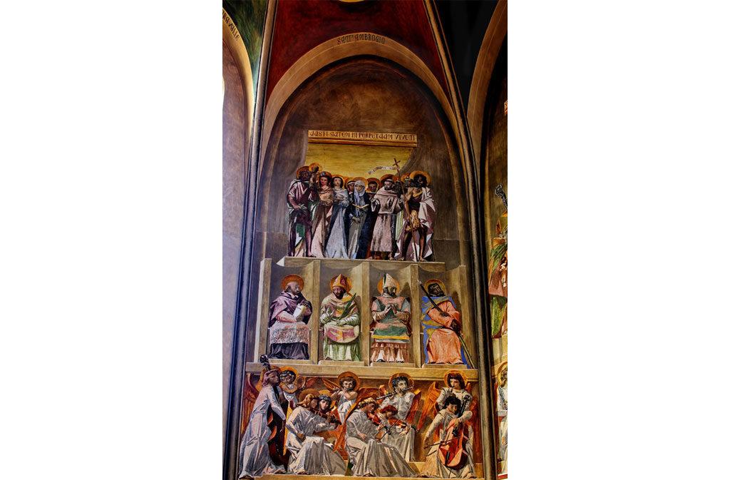 Chiese a Sacile: Duomo San Nicolò - abside Casarini - affresco 2