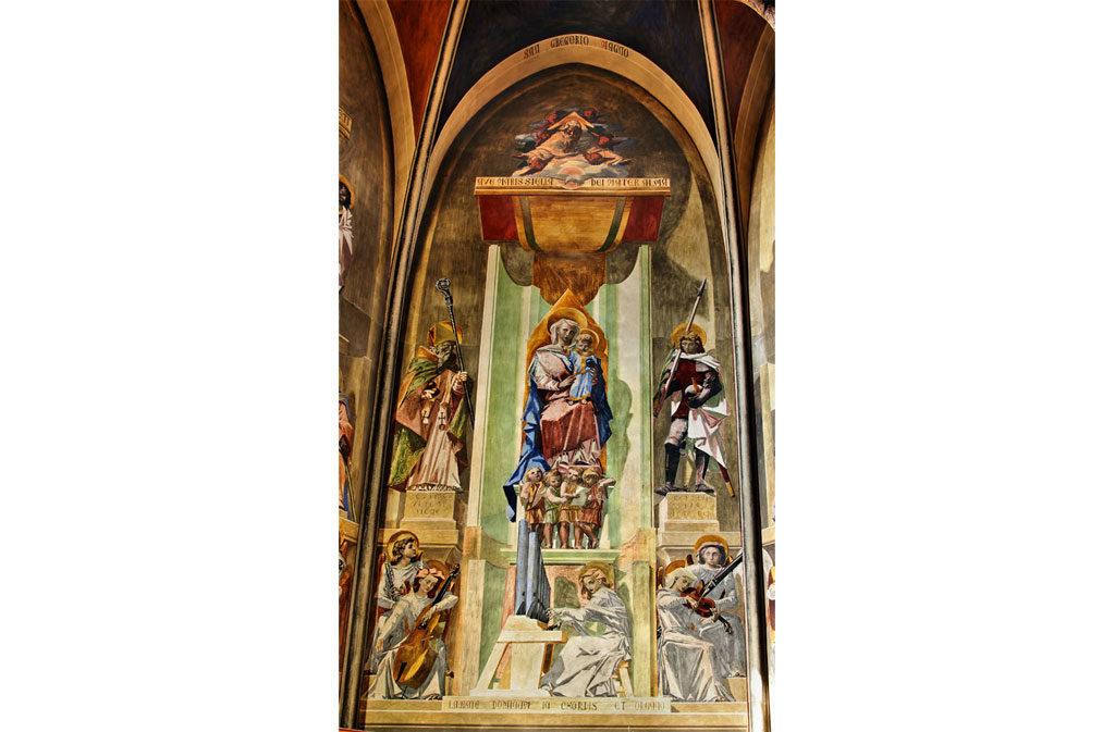 Chiese a Sacile: Duomo San Nicolò - abside Casarini - affresco 3