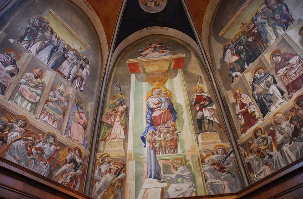 Chiese a Sacile: Duomo San Nicolò - abside Casarini - affresco 4