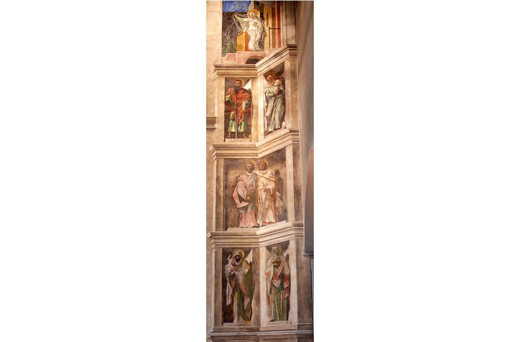 Chiese a Sacile: Duomo San Nicolò - arco trionfale affresco