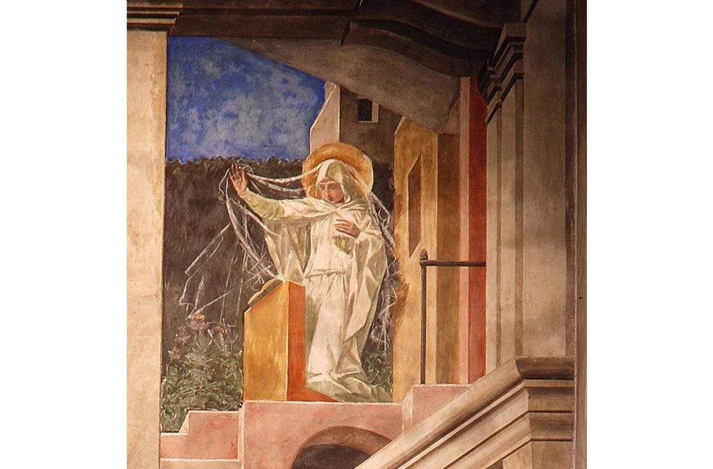 Chiese a Sacile: Duomo San Nicolò - arco trionfale affresco - dettaglio 1