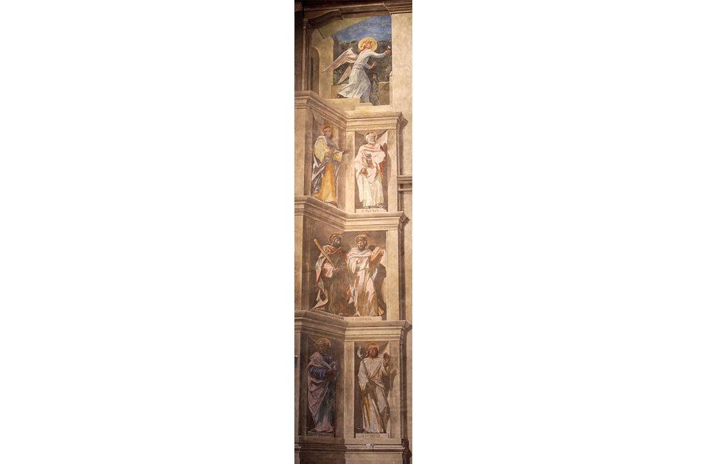 Chiese a Sacile: Duomo San Nicolò - arco trionfale affresco - dettaglio 2