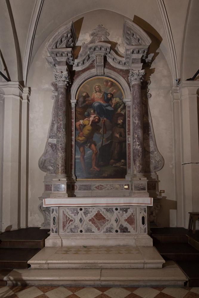 Chiese a Sacile: Duomo San Nicolò - navate laterali - Pala San Cristoforo