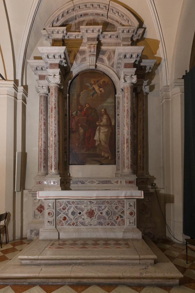 Chiese a Sacile: Duomo San Nicolò - navate laterali - Pala Santa Agnese