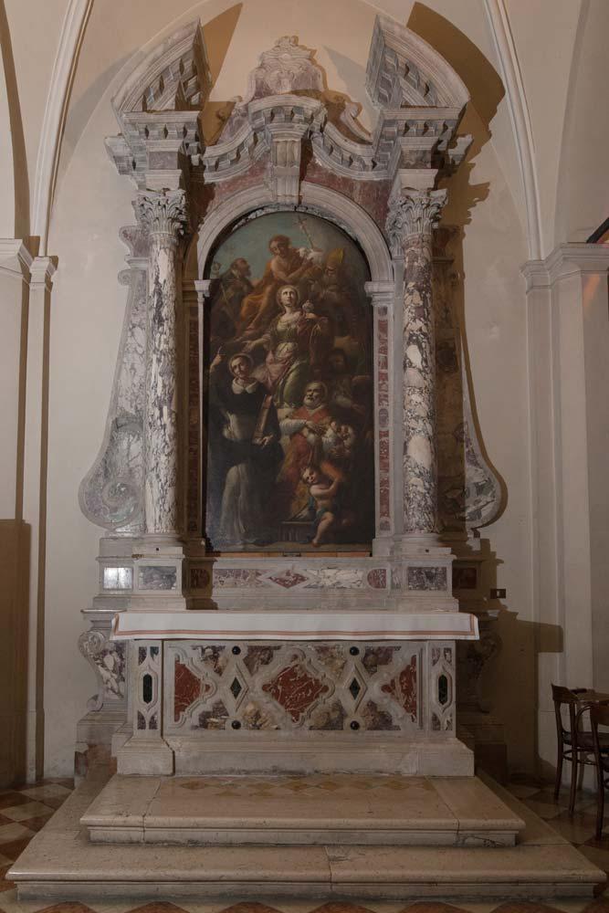 Chiese a Sacile: Duomo San Nicolò - navate laterali - Pala Santa Maria Maddalena