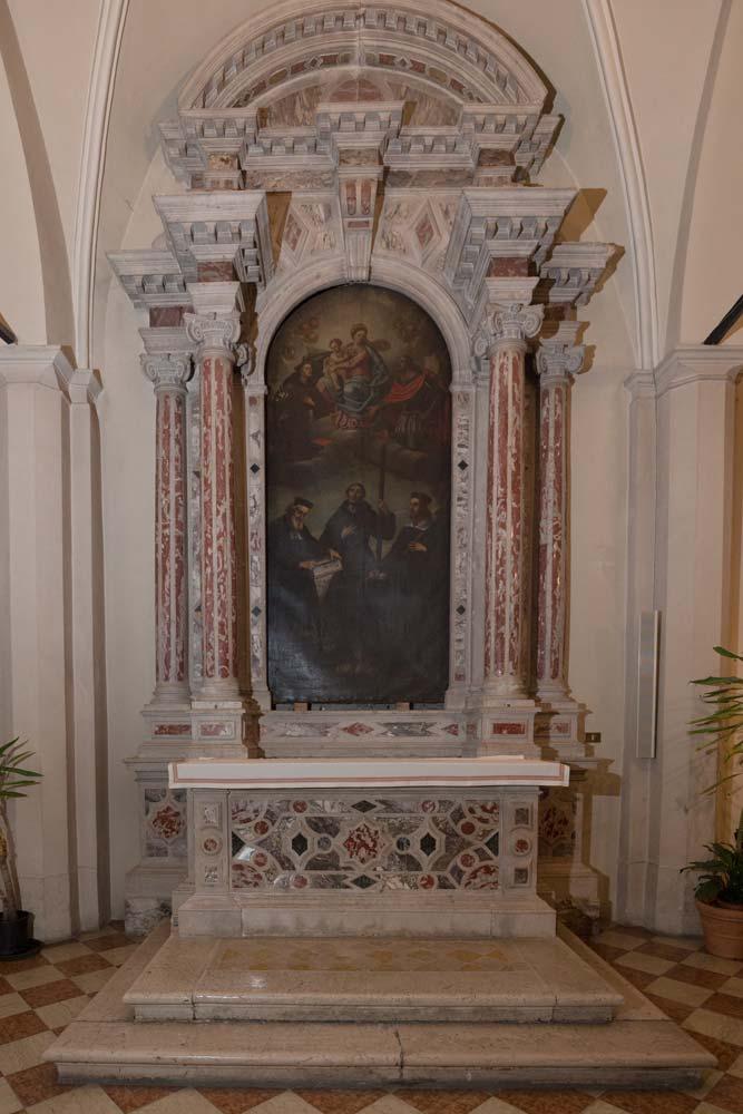 Chiese a Sacile: Duomo San Nicolò - navate laterali - Pala Santi Cosma e Damiano