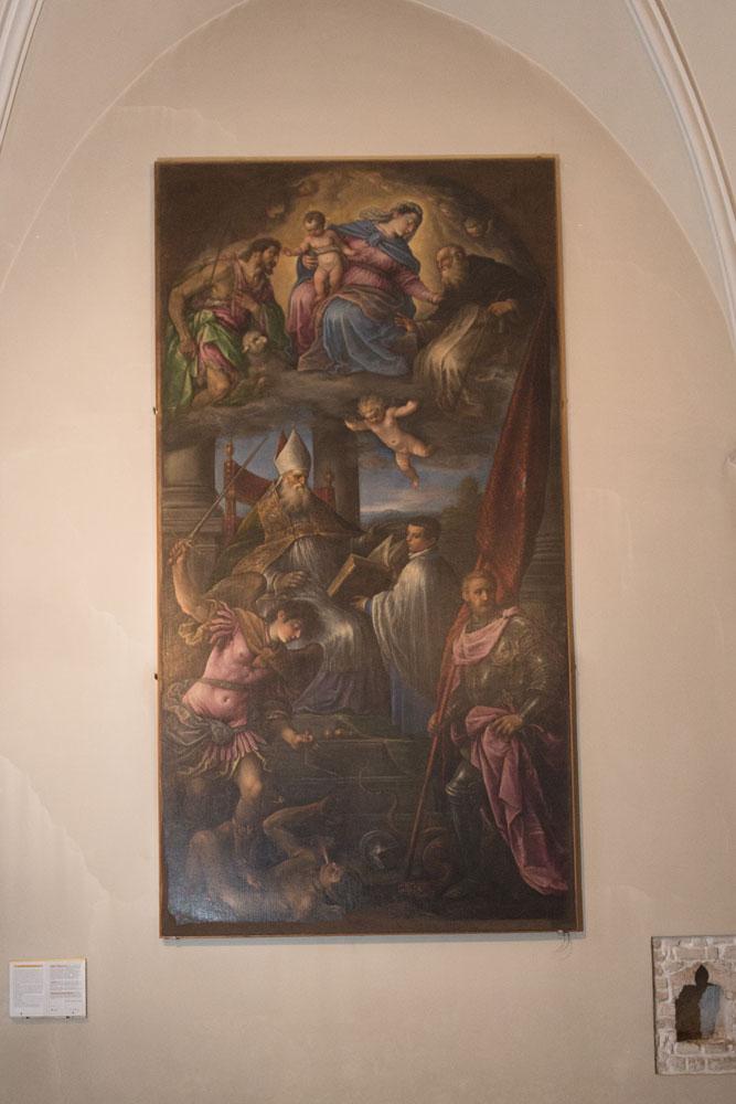 Chiese a Sacile: Duomo San Nicolò - navate - pala altare San Nicola
