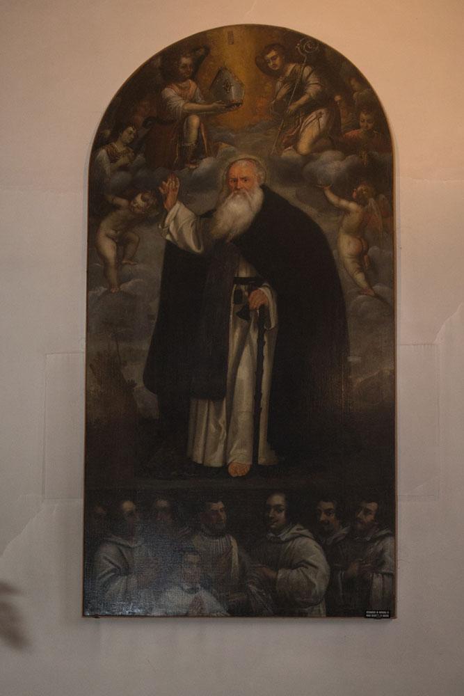 Chiese a Sacile: Duomo San Nicolò - navate - pala altare Sant Antonio Abate