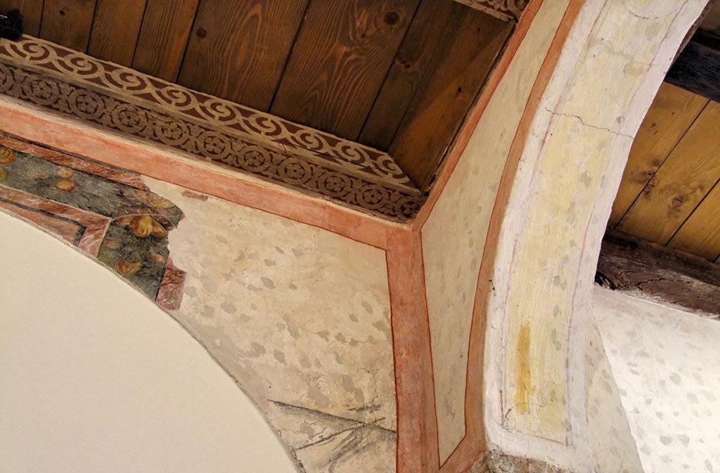 Cosa vedere a Sacile: Ospitale San-Gregorio - dettaglio arcata