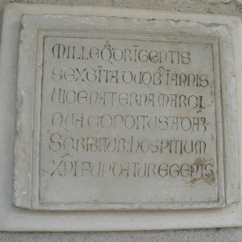 Cosa vedere a Sacile: Ospitale San Gregorio - lapide