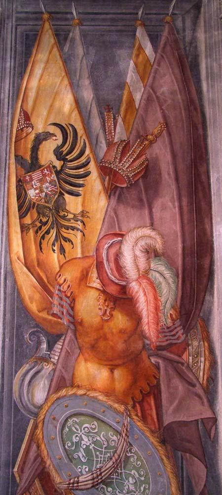 Palazzo Ragazzoni - Saletta delle bandiere - dettaglio 1