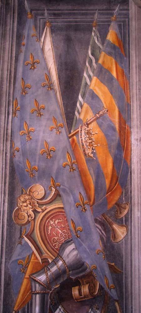 Palazzo Ragazzoni - Saletta delle bandiere - dettaglio 2