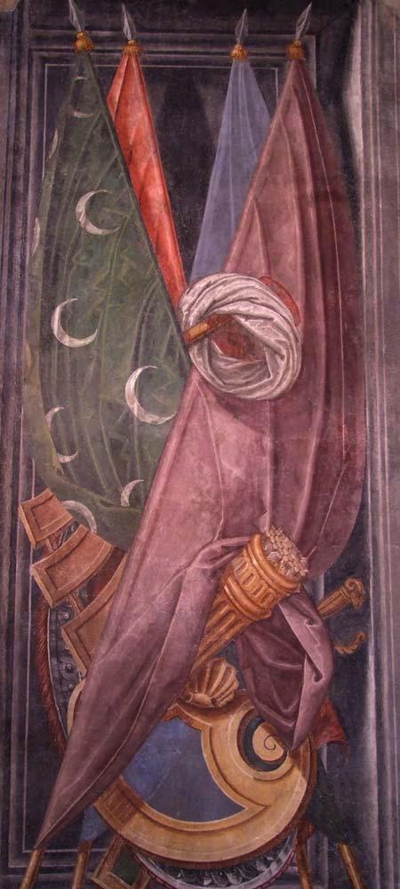 Palazzo Ragazzoni - Saletta delle bandiere - dettaglio 3