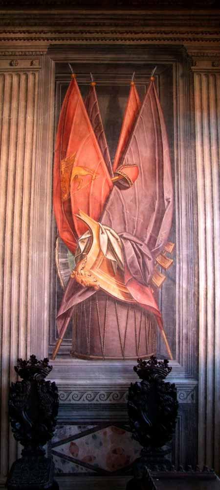 Palazzo Ragazzoni - Saletta delle bandiere - dettaglio 5