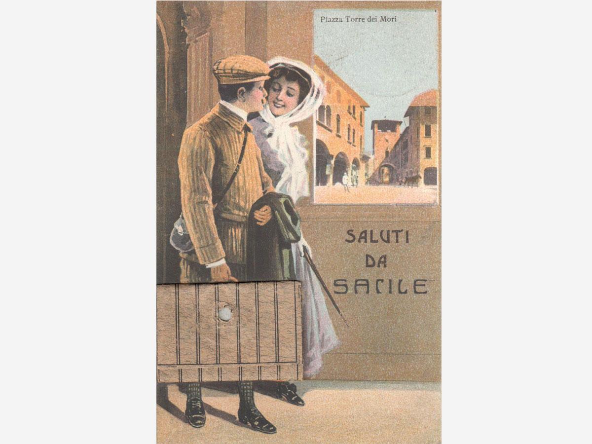 Storia di Sacile: cartolina Saluti da Sacile