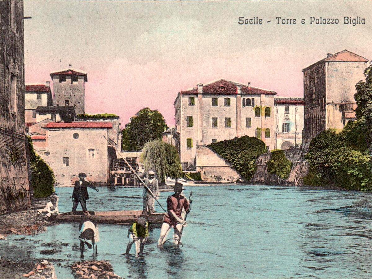 Storia di Sacile: cartolina del Livenza