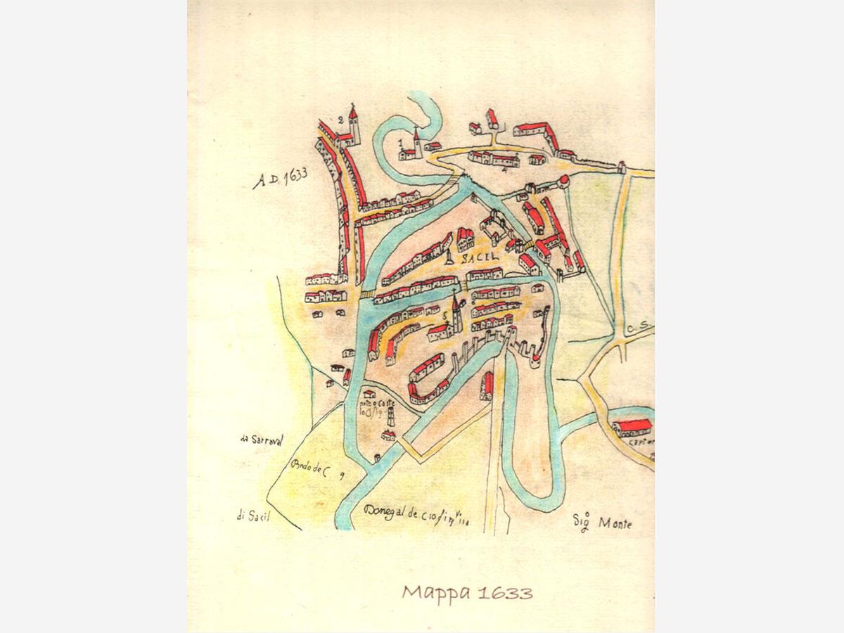 Storia di Sacile: mappa 1633