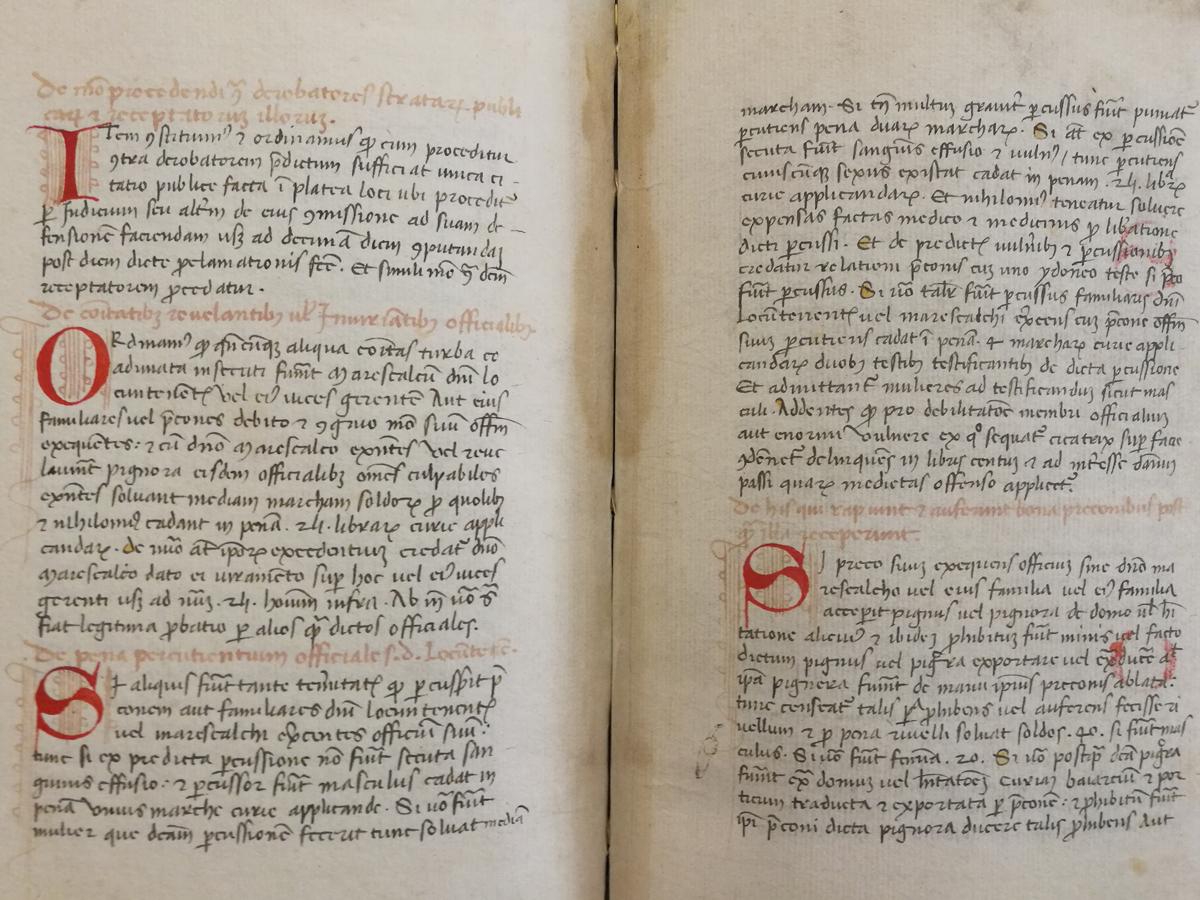 Storia di Sacile: statuto