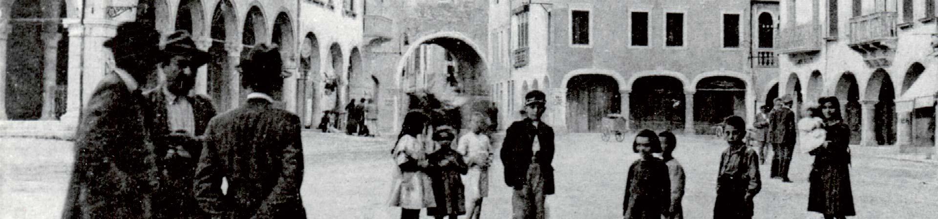 Foto storica del centro di Sacile