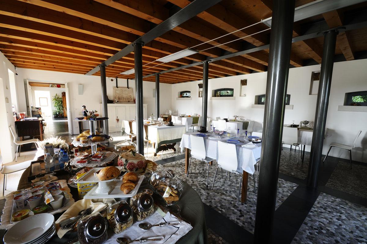 Dove dormire a Sacile: Hotel Due Fiumi - sala colazione