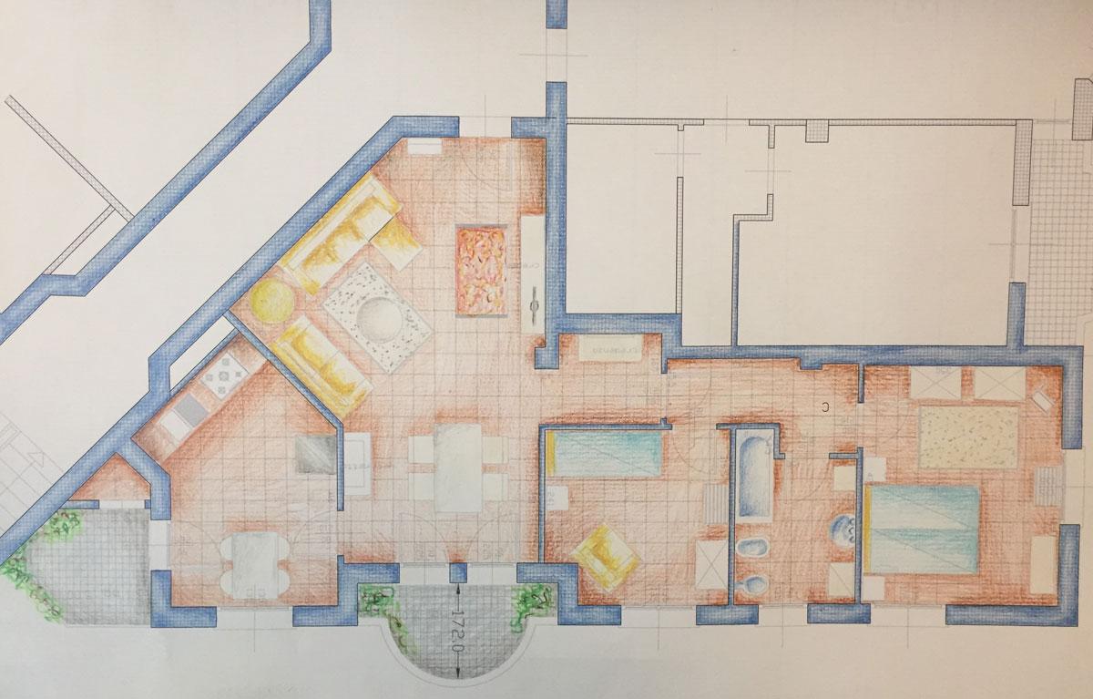 Dove dormire a Sacile: Residenza dei Tolomei - pianta