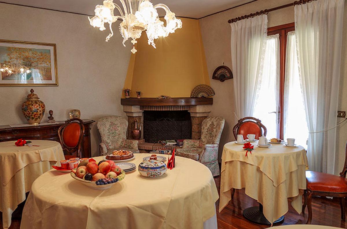 Dove dormire a Sacile: Bed and Breakfast Ca' Livenza - salal colazione