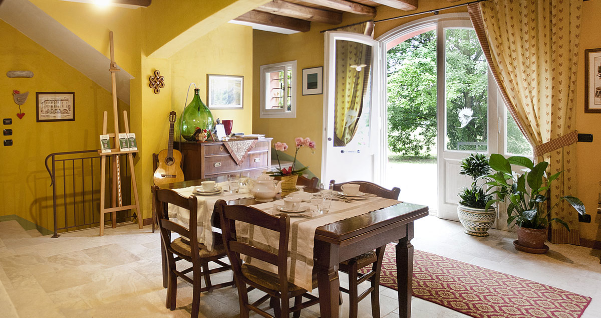 Dove dormire a Sacile: bed and breakfast Casa Carrer - sala colazione