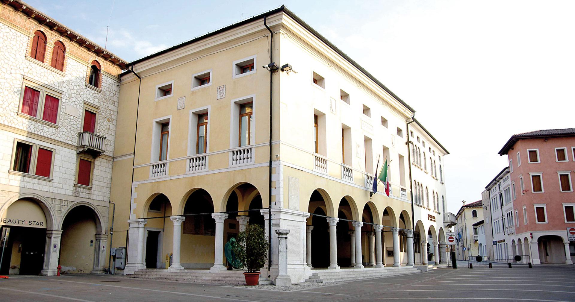Il centro della città di Sacile